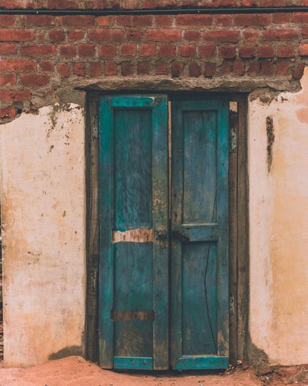 Broken dreams. EyeEm Selects Door Architecture Outdoors Day No People Full Frame Close-up Nikon D5200 Moodygrams Deep Thoughts Tatters Old House Rural Scene Dull Meaningful  Lightroom Cc Blue Color