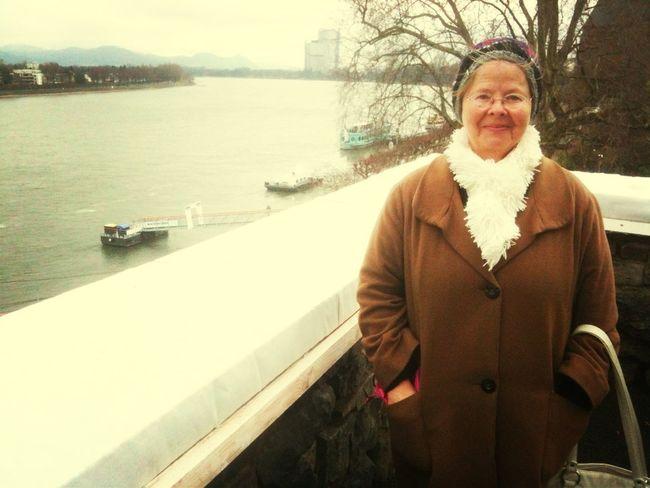 Went to river Rhine, with my wonderful niece