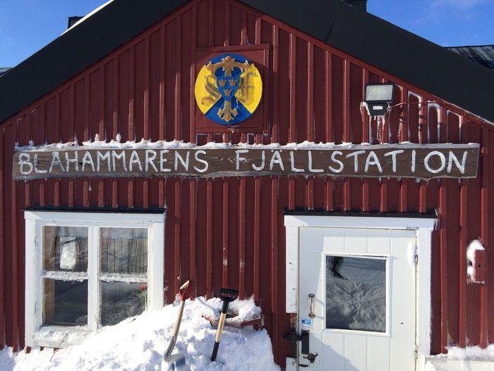 Blåhammarens fjällstation Sweden Winter Blåhammaren Hut Jamtland Mountain Hut No People Snow Stf