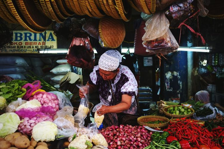 Food Herbs Merchant Traditional Market Business Market Retail  Business Finance And Industry Supermarket Fruit Women Market Stall Small Business For Sale Farmer's Market Farmer Market Street Market Display Raw