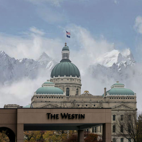 Slipery Slope Capital Building Mountains Snow Hotel Westin Indiana Dome Architecture Politics Flag Politics And Government Travel Destinations No People Built Structure City Sky Outdoors