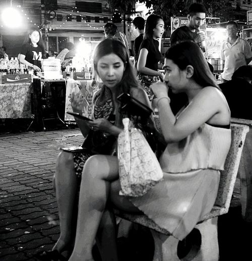 Street Photographer-2016 Eyem Awards Night Photography Candid Photography Street Vendors Cities At Night Food And Drink Leisure Activity Street Portrait Street Food Black And White Photography
