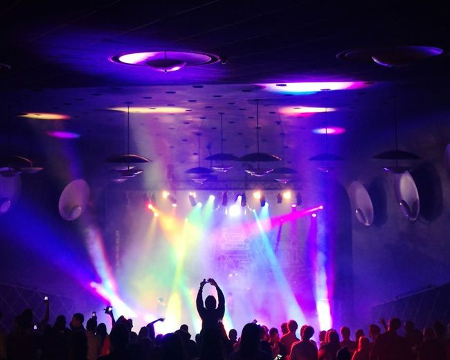 Popular Music Concert Musician Performance Group Crowd Fan - Enthusiast Rock Group Audience Nightclub Illuminated Dj Dance Floor Music Concert Stage Light