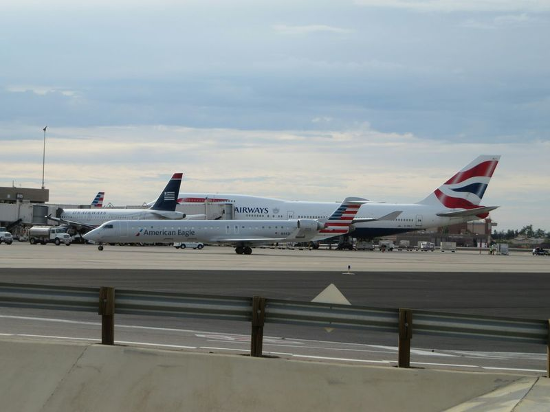 British Airways 747 dwarfing all the other planes Airport 747