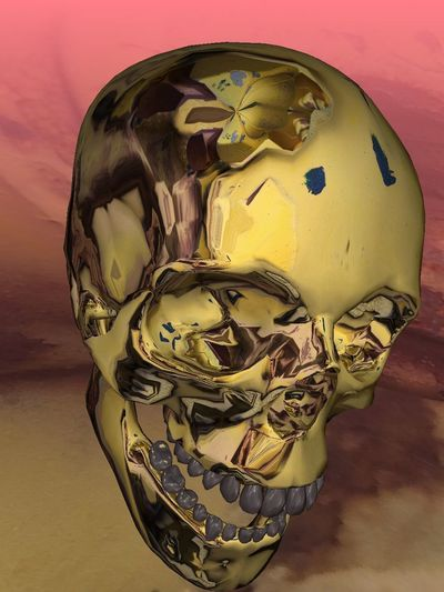 💀 Skulls💀 Skull Face Dead HEAD Gold Skull Abstract Design Indoors  Close-up Yellow Art And Craft No People Single Object Representation Pattern Mask - Disguise Human Representation Disguise Still Life Gold Colored Mask Creativity Wall - Building Feature Sphere