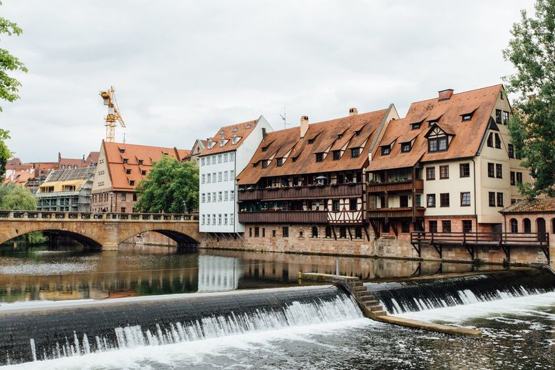 Built Structure Architecture Building Exterior Water Sky Waterfront House River Outdoors No People Day Nuremberg City Cityscapes Bridge Germany First Eyeem Photo EyeEmNewHere