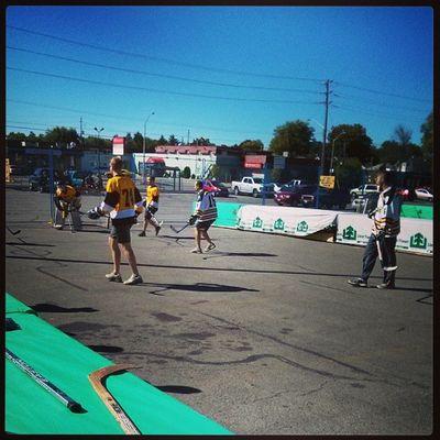 Ball hockey in st.Thomas Goalie