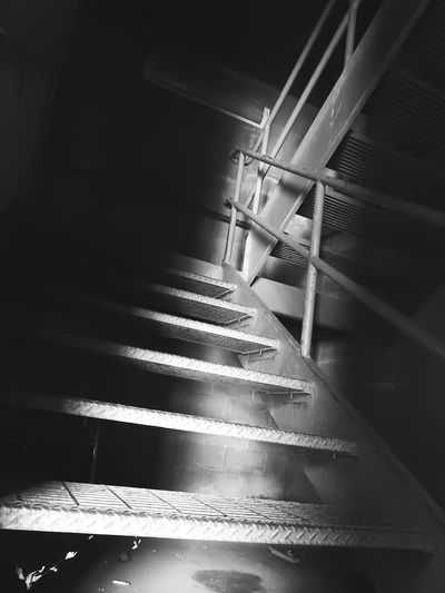 Taking Photos Check This Out EyeEm Gallery Black And White Stairs Industrial Old Building  Stairways Monochrome Black&white Black & White Black And White Collection  Shadows & Lights Creepy Scary Places Creepy Places Black & White Architecture Architecture_bw Inside The Building
