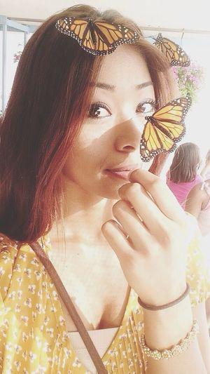 Beautiful butterflies. Nature Love Model Beautiful
