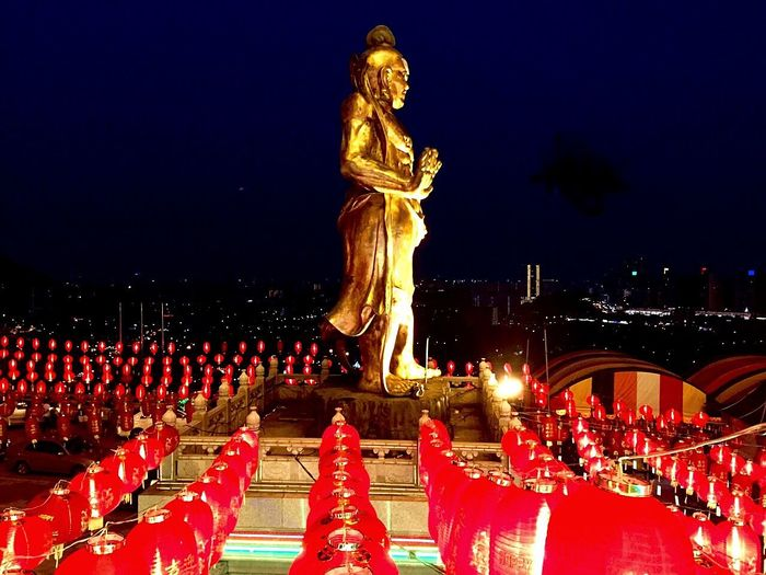 Asian Culture Chap Goh Mei Last Day Of 15th. Day Of Chinese New Year Nightphotography