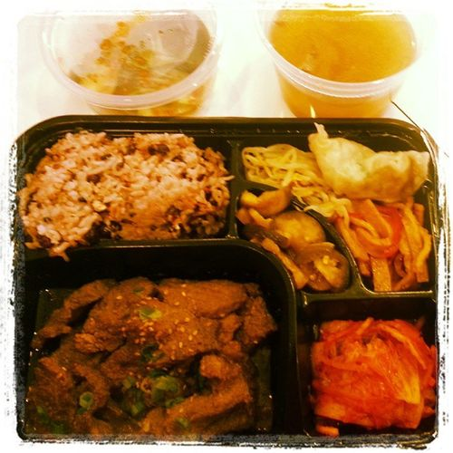 Korean short rib lunch box for lunch! :)