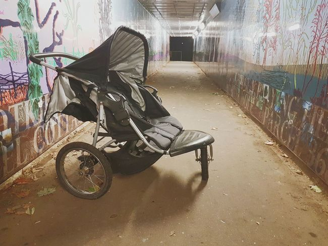Baby Stroller Outdoors Nightphotography Subway Abandoned Lost Midnight