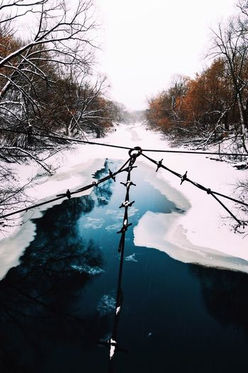 Nature Water Winter Reflection Cold Temperature Lake Day Snow No People Beauty In Nature First Eyeem Photo