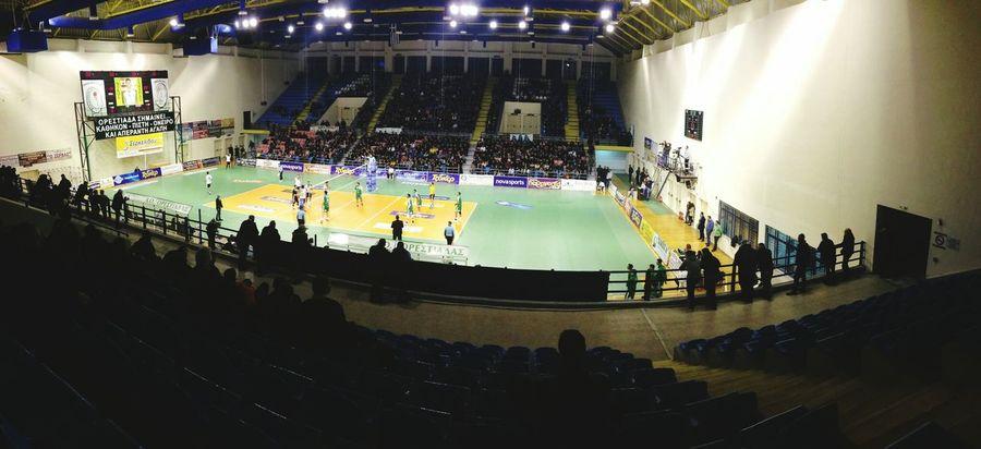 Stadium volleyball Taking Photos
