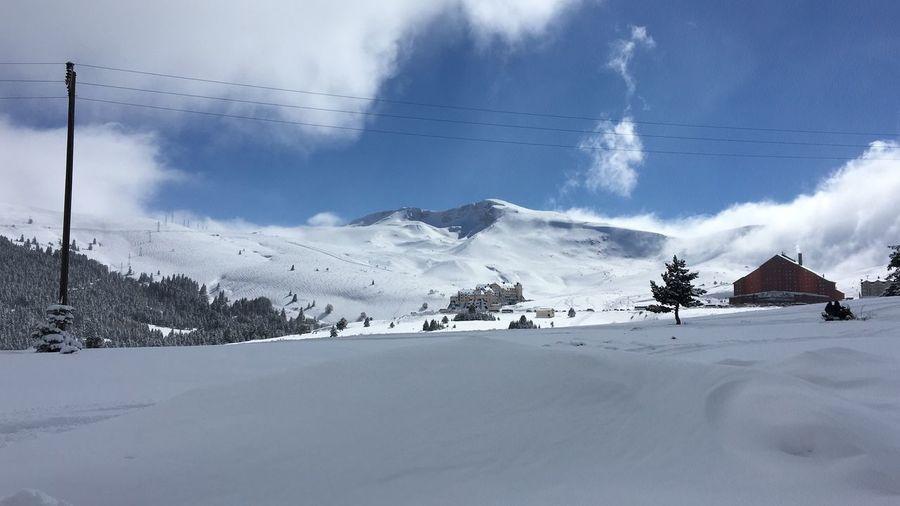 Winter Eğlence Zirve Dağ Snow Uludag