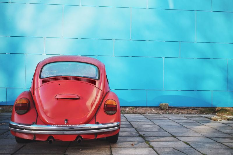 Blue Transportation No People Outdoors Built Structure Day Architecture Classic Car Automobile Vehicle
