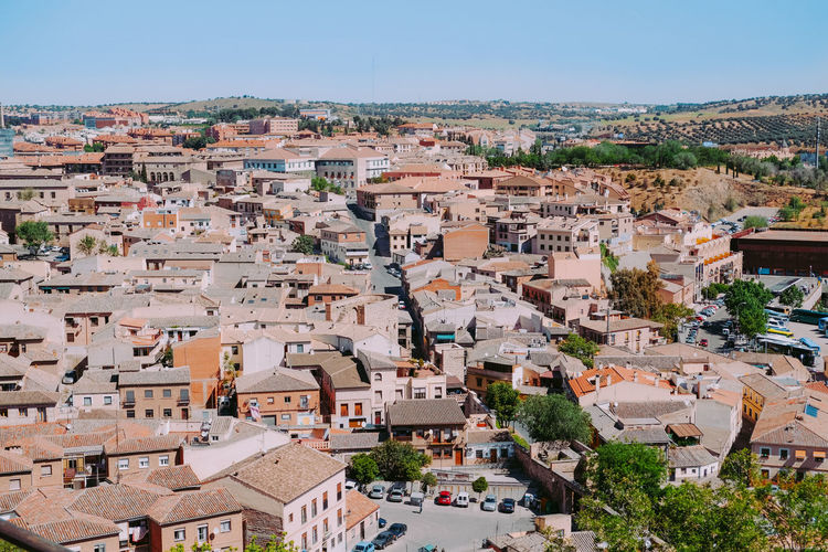 Cityscape Aerial View Outdoors Architecture Building Exterior Residential District Ancient Real Estate City Historical Building Toledo Spain Travel Destinations Vacation Village Settlement Heritage Europe Alley Built Structure Roof Town Community House TOWNSCAPE Day High Angle View Sky