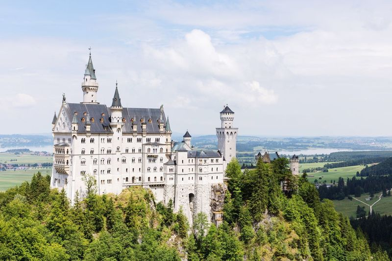 Architecture Building Exterior Sky Tree Built Structure Travel Destinations Outdoors Day City Cloud - Sky No People Nature Germany Snapshots Of Life Castle Swan Füssen Exploring Fairytale