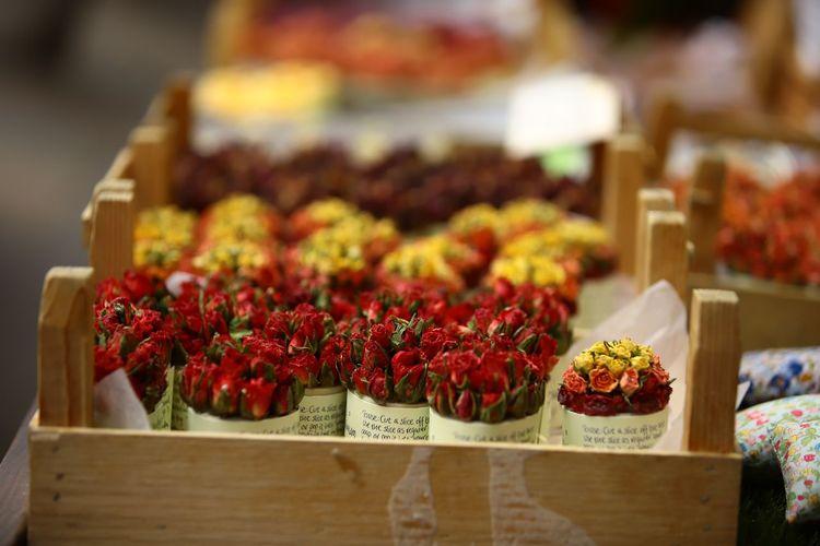 Flowers in market for sale