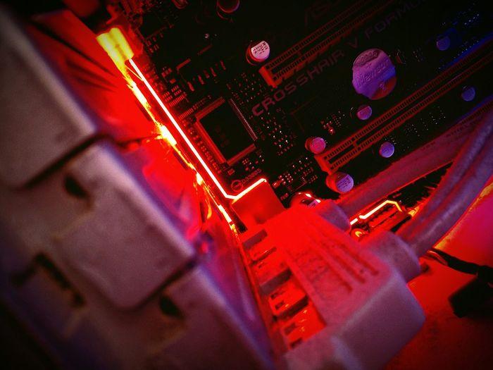 Close-up of illuminated street light