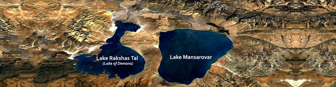 It is holy lake in Tibet near it is one of the sacred holy place wher Hinus Buddists visit these places. Nature