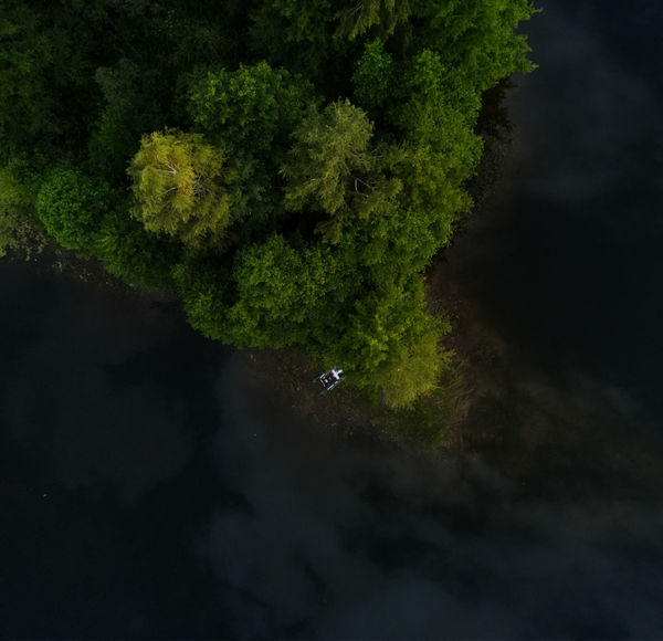 Forest Island Lake Island Boat Fishing Boat Tree Water Lake Reflection Sky Landscape Close-up Lush - Description Lush Foliage The Great Outdoors - 2018 EyeEm Awards