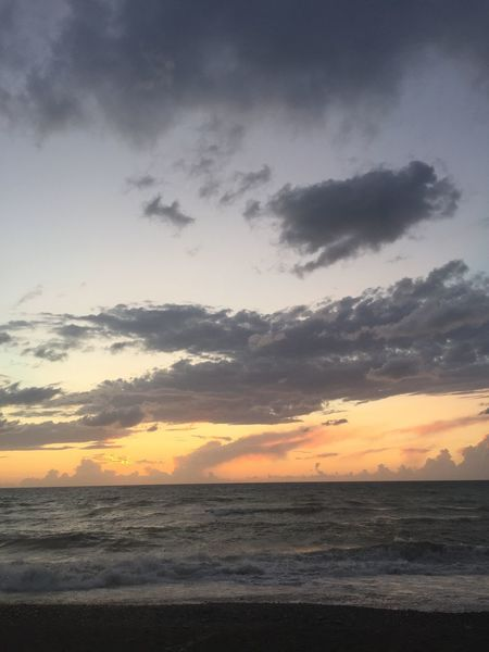 Sunset Sea Sky Nature Water Beauty In Nature Tranquility No People Scenics Beach Tranquil Scene Outdoors Horizon Over Water Sunlight Sicilia Messina Capo D'Orlando Cloud - Sky Tranquility