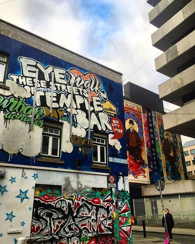 My Temple ⛪️🕌🕍 Architecture Building Exterior Multi Colored Built Structure Day Graffiti Streetart Streetphotography Jamesjoyce Dublin City Outdoors Worship Place Square Walls Ireland