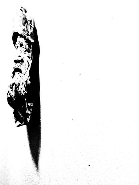 wise old man Noir & Blanc  Wisdom Dagger Silhouette Shadows & Lights Black & White White Background