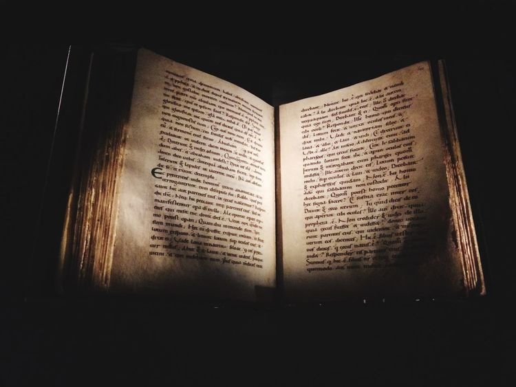 Old copy of the bible in York Minster. Bible Christianity York Minster History Religion Books Anglo-saxon