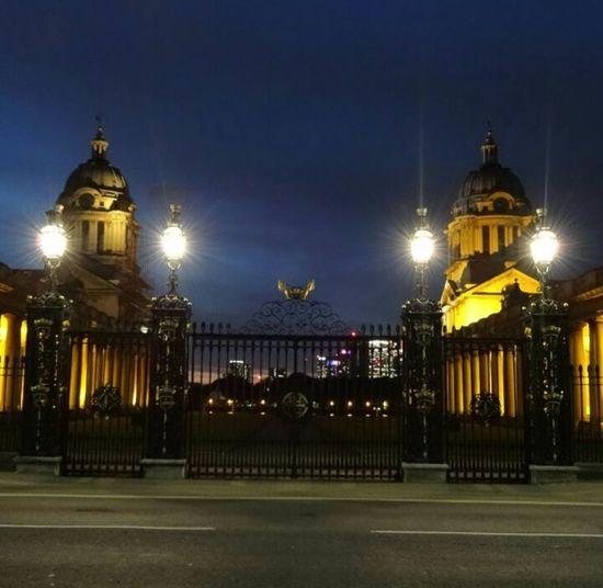 Greenwich University Night Illuminated History Architecture Cityscape City Outdoors Urban Skyline Sky