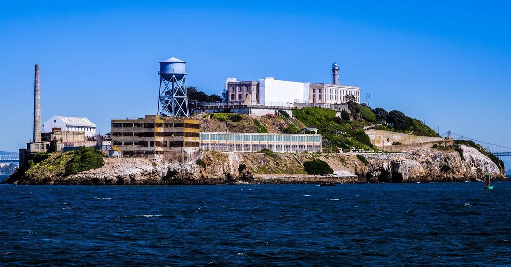 View of alcatraz from the sea