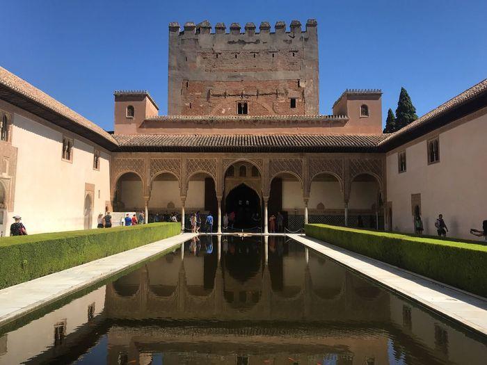 Alambra Granada Architecture Built Structure Water Building Exterior Reflection Building Nature