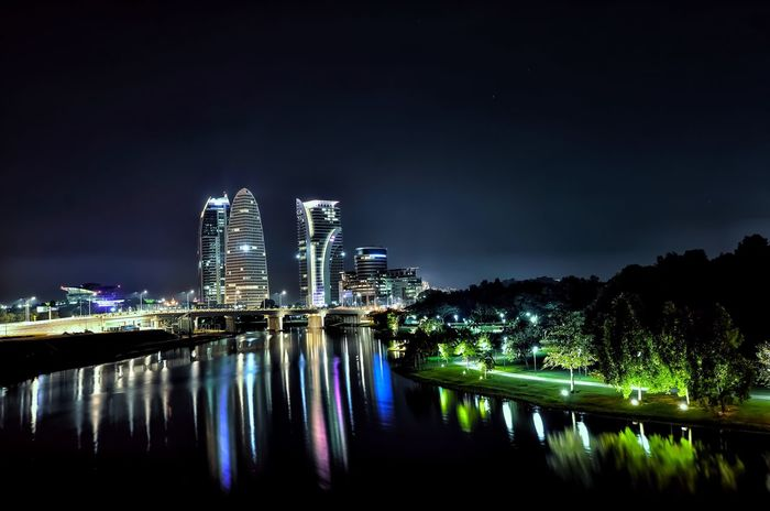 Night Built Structure Architecture Water Reflection Waterfront Beauty In Nature No People Kotawelerikendal Menthoel_phonegraphy Welerypothography Yogyakarta Photography Nighscape Cityscape
