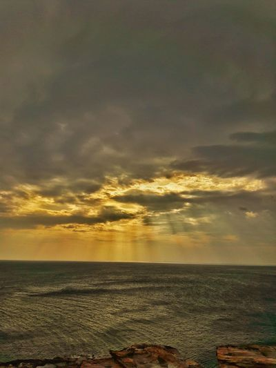 Sunset Beach Sea Dramatic Sky Outdoors Water Nature Cloud - Sky Scenics Tranquility Landscape Dusk Horizon Over Water Beauty In Nature No People Sky Summer Travel Destinations Beauty Gold Colored