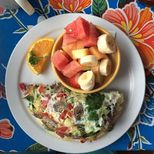 My Favorite Breakfast Moment Eggs Breakfast Fruit Healthy Egg Whites Omelette Veggies