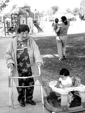 Walker Grandma Funny Pics Blavk And White Blackandwhite Photography We start with a walker and we end with a walker The Portraitist - 2015 EyeEm Awards