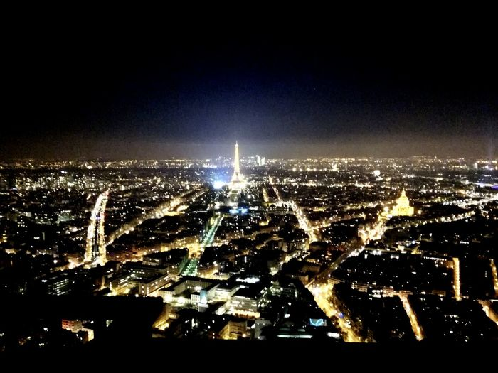 Cityscape Night Illuminated City Paris, France  ParisByNight Paris Je T Aime Travel Destinations Night Lights Architecture Sky Building Exterior Urban Skyline Built Structure Skyscraper Modern Outdoors No People Downtown District Nature The City Light