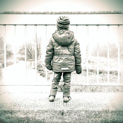 Child Looking Ahead Looking Ahead