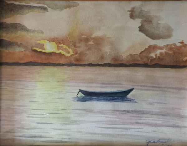 Sea Water Sea Watercolour