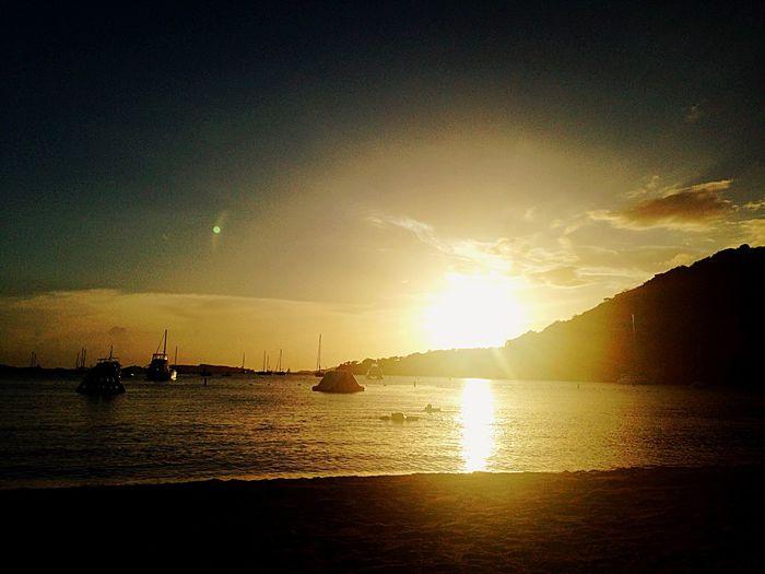 Glitch Sunset Enjoying Life Relaxing Life Is A Beach VirginIslands