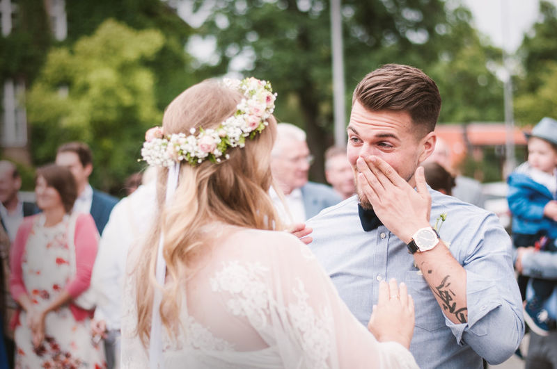 That moment when you just can't stop those tears. Casual Clothing Day Enjoyment Family Focus On Foreground Friendship Fun Happiness Headshot Leisure Activity Lifestyles Outdoors Portrait Tears Togetherness Wedding