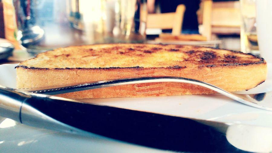 closup. toast