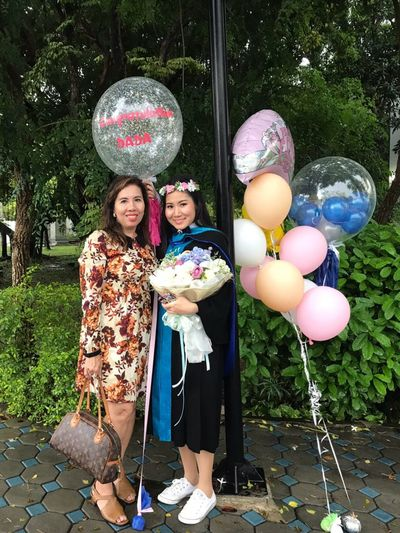 Congratulations Two People Celebration Togetherness People Balloon Happiness Outdoors Adult Day Standing Friendship Girls Young Adult Child Only Women Portrait Females Beauty Young Women