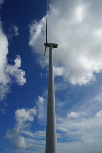 EyeEmNewHere Cloud - Sky Sky Low Angle View Wind Turbine Alternative Energy Day Renewable Energy Environmental Conservation Wind Power Technology Outdoors Blue Power Supply Shangchuan Island Guangdong