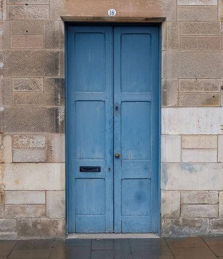 Door Blue Door Blue House Built Structure Street Streetphotography Pittenweem Fife  Scotland