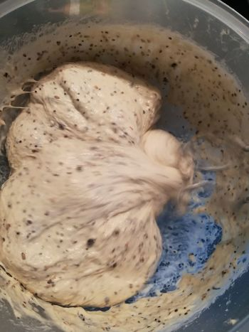 Baking Bread Bread Bread Dough Close-up Day Food Food And Drink Freshness Healthy Eating Hefeteig High Angle View Indoors  Ingredients Kneading Kneading Dough No People Seeds Spelt Flour Yeast Dough