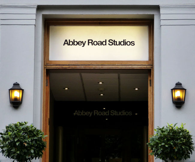 Abbey Road Studios Abbey Road The Beatles Music Studio  Communication Sign Architecture Entrance Built Structure Information Sign Famous Place London England