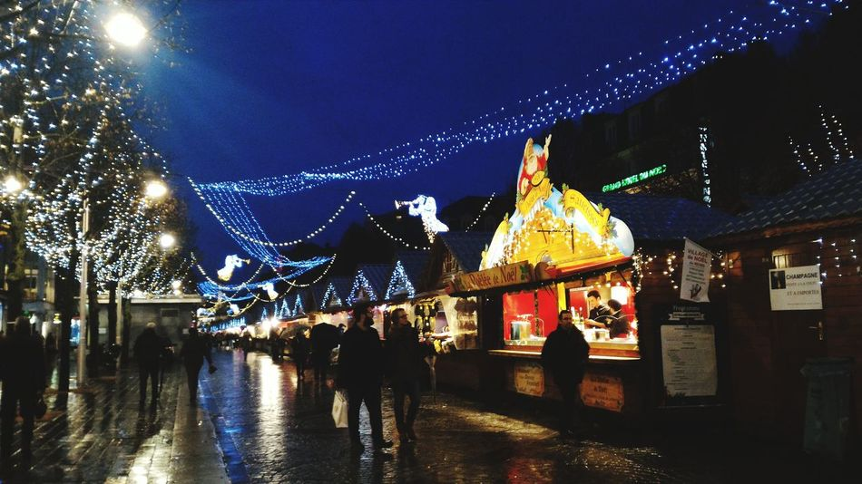 Christmas Xmas Reims Christmas Market Rain Reflection Lights Pretty France Itsnovember Ohwell