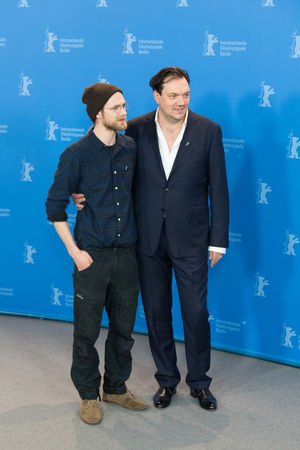 Berlin, Germany - February 19, 2018: German actors Robert Gwisdek and Charly Huebner pose at the '3 Days in Quiberon' (3 Tage in Quiberon) photo call during the 68th Berlinale Film Festival 2018 Actor Charly Huebner Charly Hübner Famous German Photocall Robert Gwisdek Berlinale Berlinale 2018 Berlinale Festival Berlinale2018 Berlinale68 Famous People Front View Full Length People Photo Call Popular Pose Posing Posing For The Camera Smiling Standing Star Two People